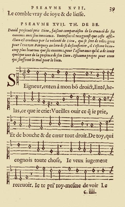 les psaumes chantés